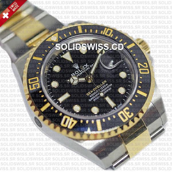 Rolex Sea-Dweller Two Tone 43mm 18k Yellow Gold