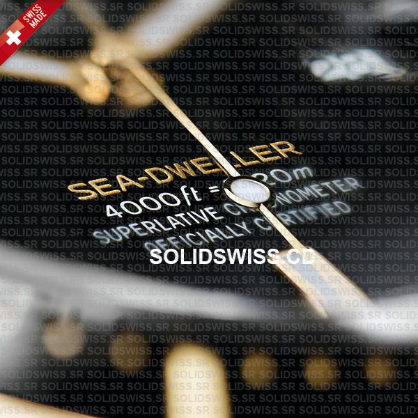 Rolex Sea-Dweller Two Tone 18k Yellow Gold 43mm