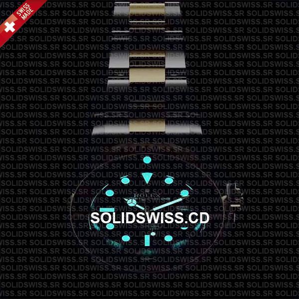 Rolex Sea-Dweller Two Tone Black Dial Swiss Replica Watch