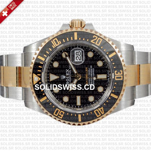 Rolex Sea-Dweller Gold Two Tone 904L Steel Ceramic Bezel 43mm