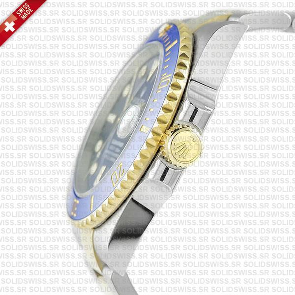 Rolex Submariner 2 Tone 18k Yellow Gold, 904L Steel Blue Diamond Dial