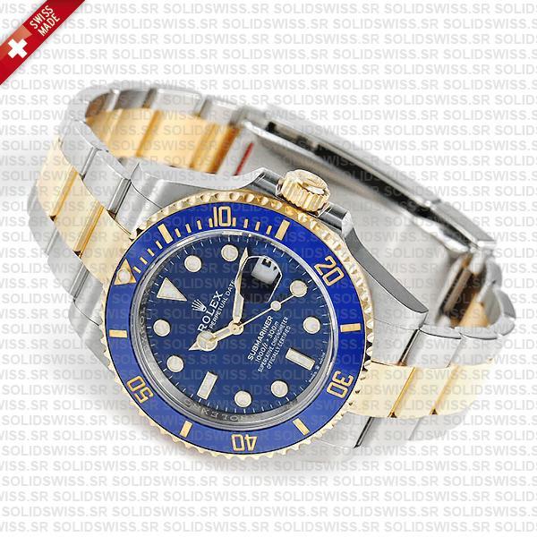 Rolex Submariner 2 Tone 18k Yellow Gold, Blue Diamond Dial