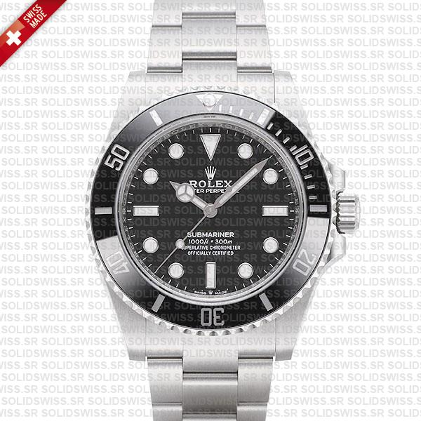 Rolex Submariner 41mm No Date Black Dial Ceramic Bezel