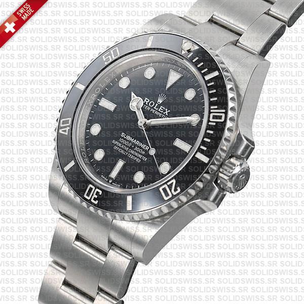 Rolex Submariner 41mm 904L Steel No Date black dial