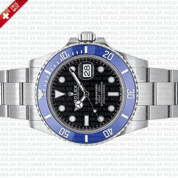 Rolex Submariner 41mm White Gold Wrap Blue Bezel