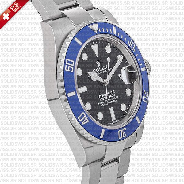 Rolex Submariner 41mm White Gold Wrap Black Dial