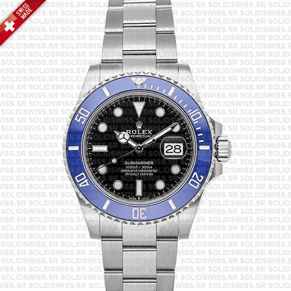 Rolex Submariner 41mm White Gold Wrap Black Dial Blue Bezel