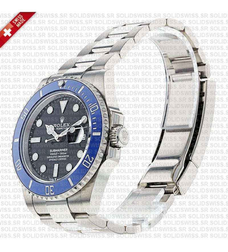 Rolex Submariner 41mm 904L Steel Blue Ceramic Bezel