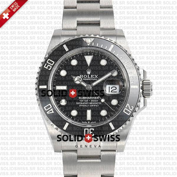 Rolex Submariner 904L Steel Black Ceramic Bezel 41mm