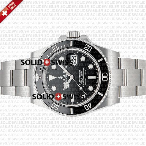 Rolex Submariner 904L Steel Black Ceramic Bezel