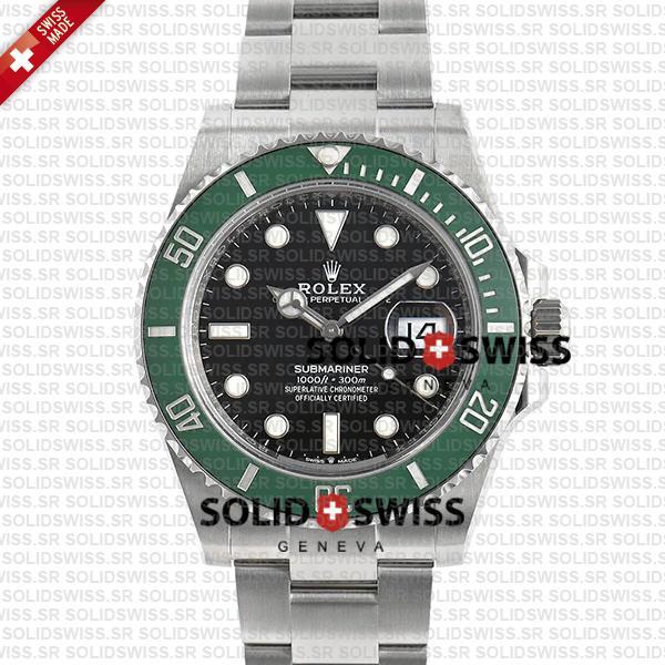 Rolex Submariner Green Ceramic Bezel 41mm 904L Steel