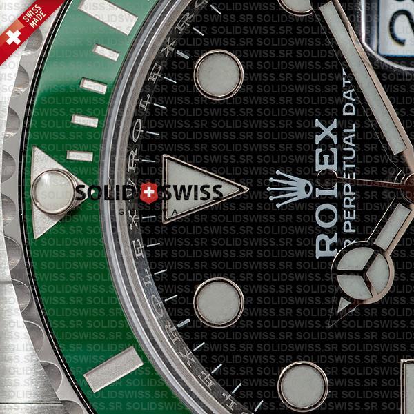 Rolex Submariner Green Ceramic Bezel solid Steel