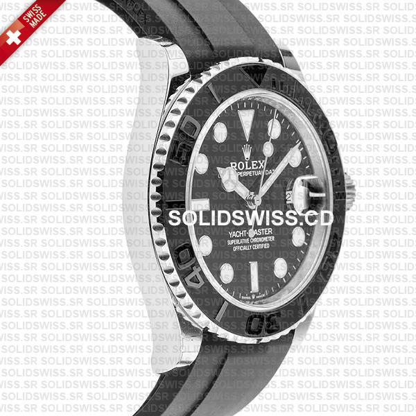 Swiss Made Replica Rolex Yacht-Master 18k White Gold 904L Stainless Steel Watch