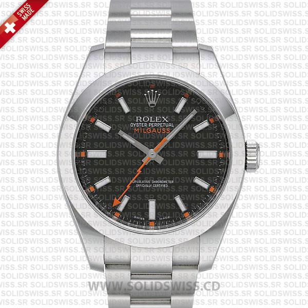 Rolex Milgauss Stainless Steel Black Dial 40mm | Replica Watch