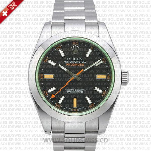 Rolex Milgauss 116400 Stainless Steel Green | Solidswiss Watch