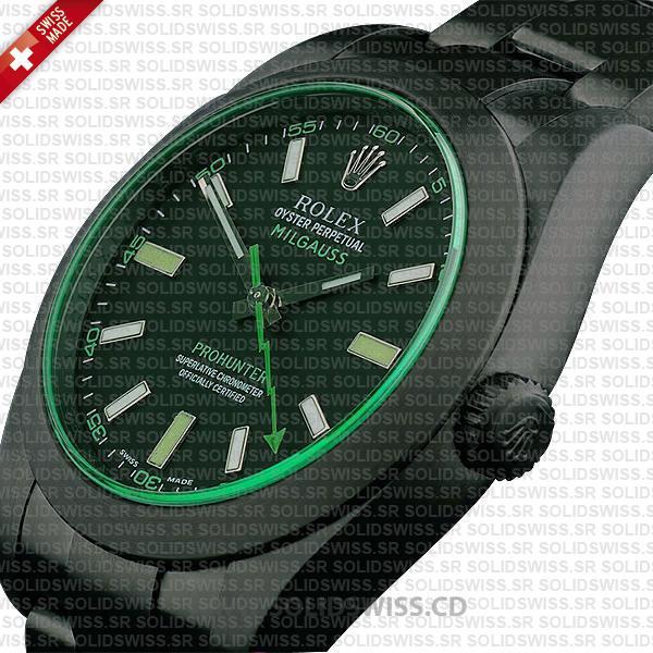 Rolex Milgauss Pro Hunter DLC Black Dial 40mm