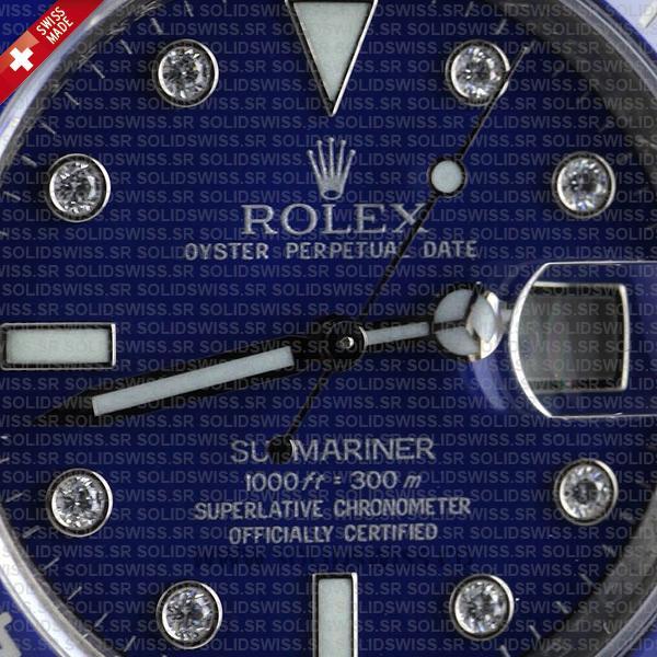 Rolex Submariner SS Blue Diamonds Ceramic