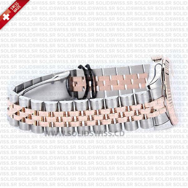Rolex Datejust Ladies 18k Rose Gold 904L Stainless Steel Two-Tone Jubilee Bracelet