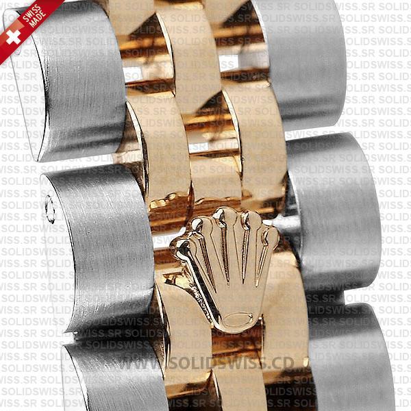 Rolex Datejust Two-Tone 18k Rose Gold White Diamond Dial Jubilee Bracelet Swiss Replica
