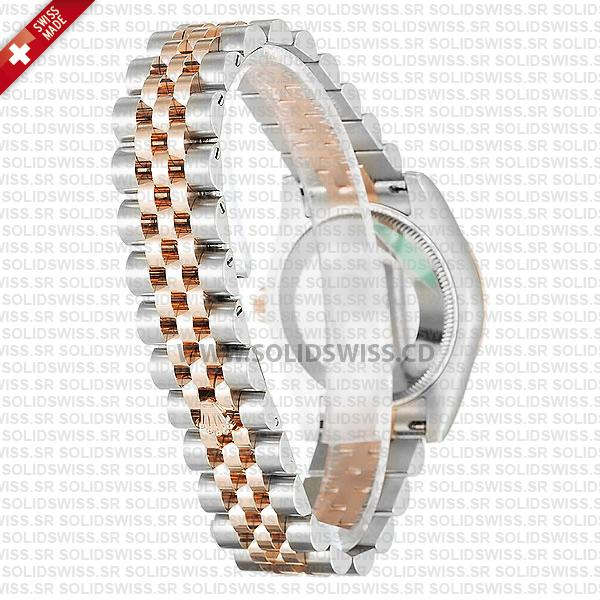 Rolex Datejust Lady 18k Rose Gold Two-Tone Stainless Steel Chocolate Roman Dial Watch