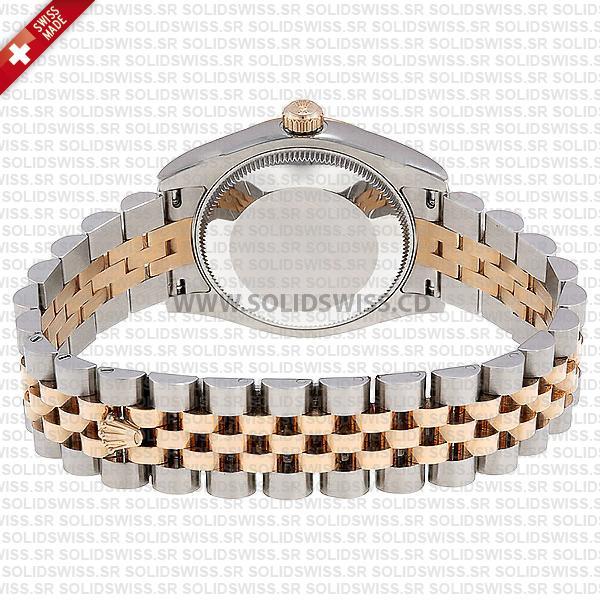 Rolex Datejust Two-Tone 18k Rose Gold White Diamond Dial Jubilee Bracelet Swiss Replica Watch