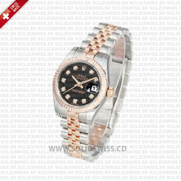 Rolex Datejust 31mm Rose Gold Two-Tone | Solidswiss Replica
