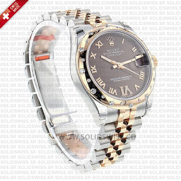 Rolex Datejust Two-Tone 31mm Chocolate Dial