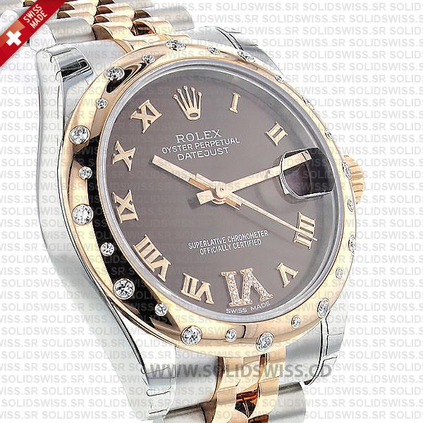 Rolex Datejust Lady 18k Rose Gold Two-Tone Stainless Steel