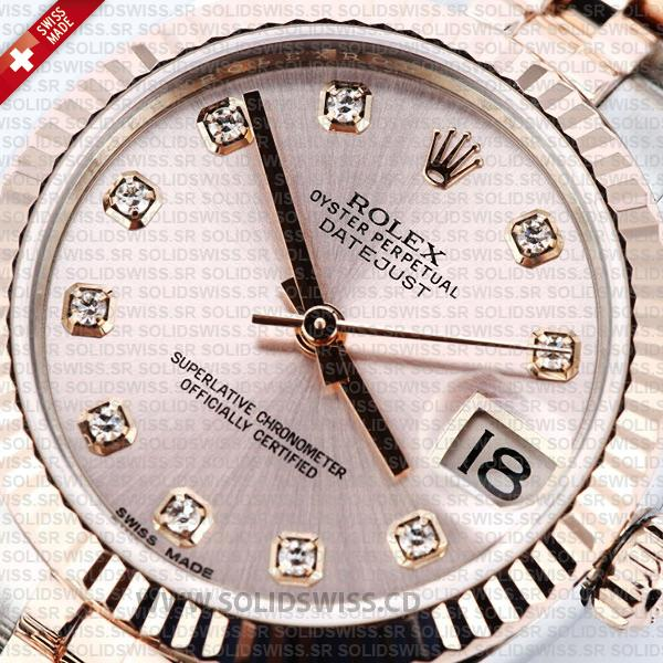 Rolex Datejust 31mm Two-Tone Rose Gold