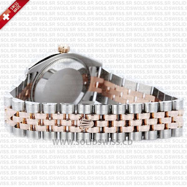 Rolex Datejust 31mm Jubilee Pink Diamonds 18k Rose Gold 2-Tone Swiss Replica