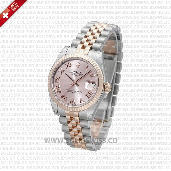Rolex Datejust 31mm Two-Tone Pink Roman Dial | Solidswiss