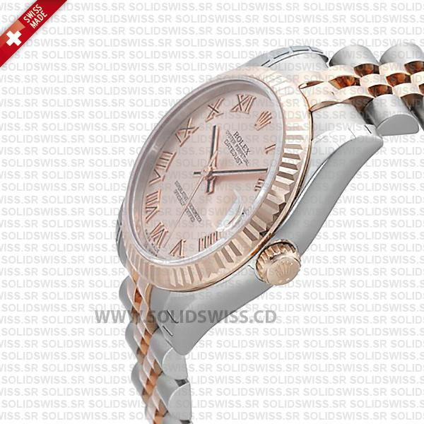 Replica Rolex Lady-Datejust Stainless Steel 18k Rose Gold