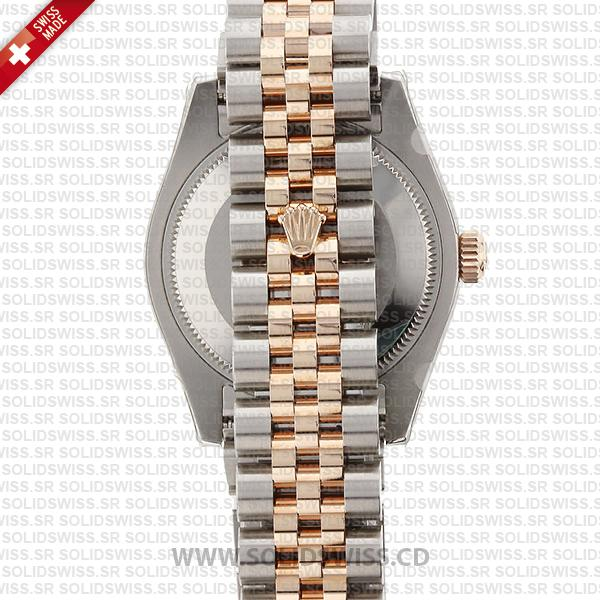 Rolex Datejust 18k Rose Gold Two-Tone White Dial 31mm