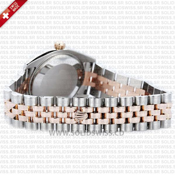 Rolex Datejust 18k Rose Gold Two-Tone White Dial Replica Watch
