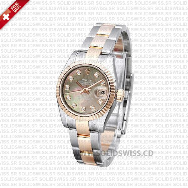 Rolex Datejust 31mm Two-Tone Rose Gold | Solidswiss Replica