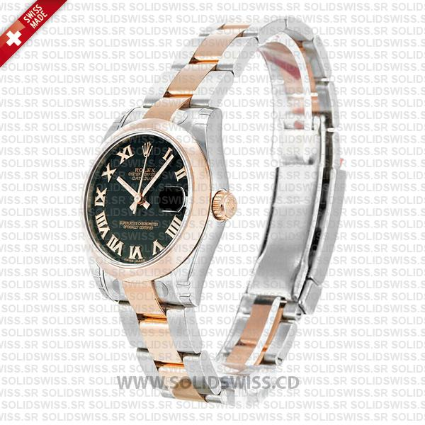 Replica Rolex Datejust Two-Tone 18k Rose Gold with 904L Stainless Steel Oyster Bracelet