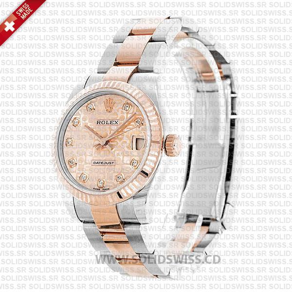 Rolex Datejust 31mm Oyster Bracelet Pink Jubilee Dial