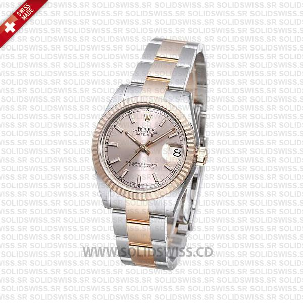 Rolex Datejust Two-Tone Rose Gold 31mm Swiss Replica Watch