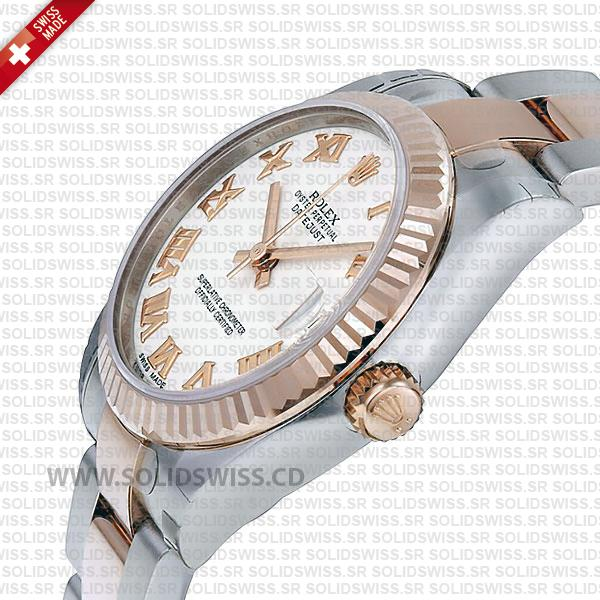 Rolex Datejust Two-Tone 18k Rose Gold Oyster Bracelet