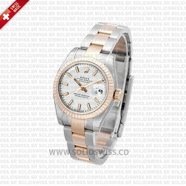 Rolex Datejust Two-Tone 31mm Oyster White Dial Replica Watch