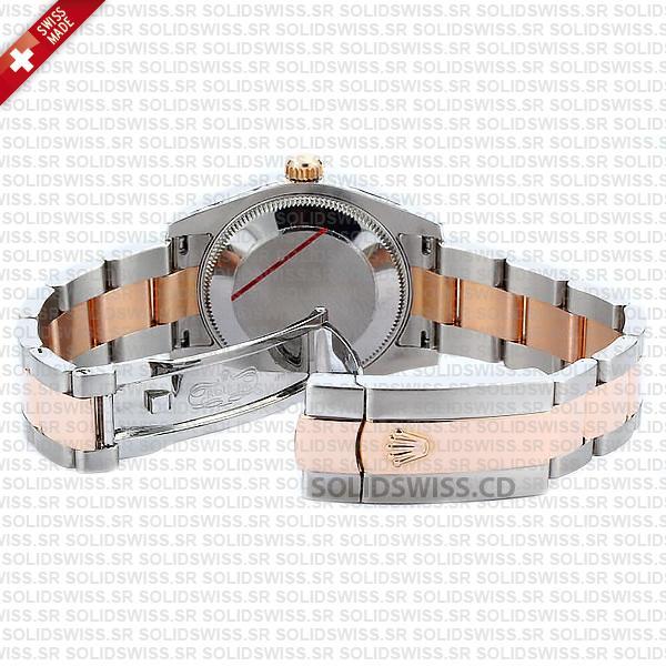 Rolex Datejust 31mm Oyster 18k Rose Gold 2-Tone Swiss Replica