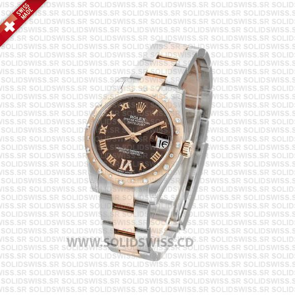 Rolex Datejust 31mm Two-Tone Chocolate Dial Oyster Watch
