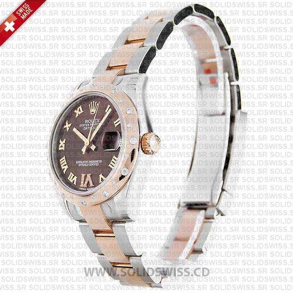 Rolex Datejust 31mm Two-Tone Chocolate Dial Oyster Bracelet Replica