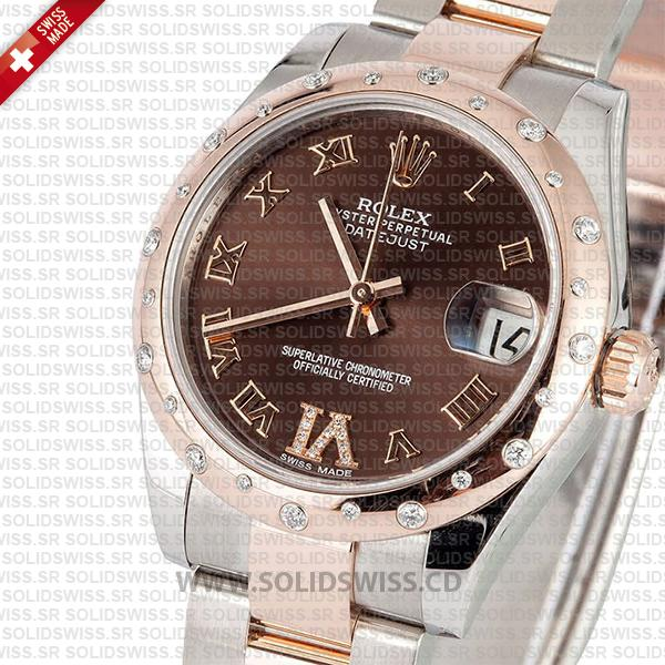 Rolex Datejust 31mm Two-Tone Chocolate Dial Oyster Bracelet