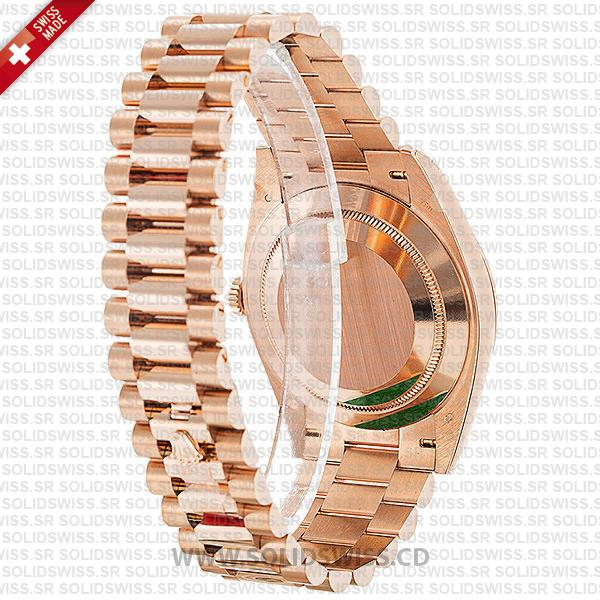 Rolex Oyster Perpetual Day-Date Rose GoldFluted bezel 40mm Watch