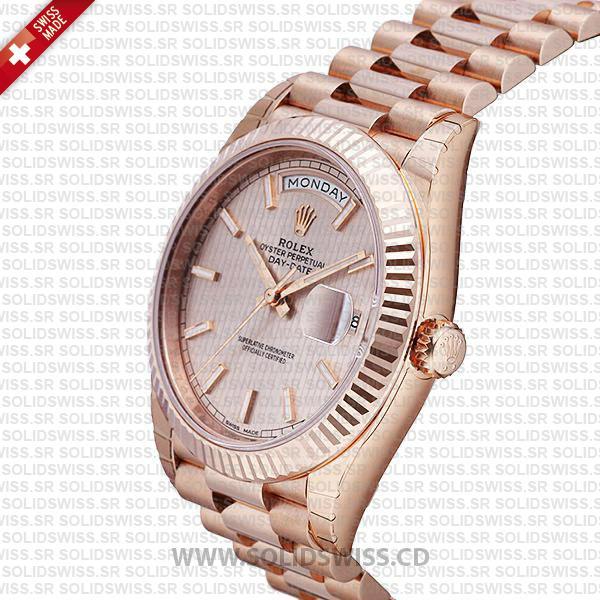 Rolex Day-Date 40 Rose Gold Watch