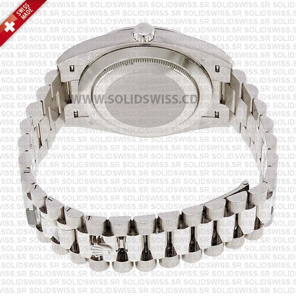 Rolex Day-Date 40 White Gold Blue Roman Dial President Bracelet
