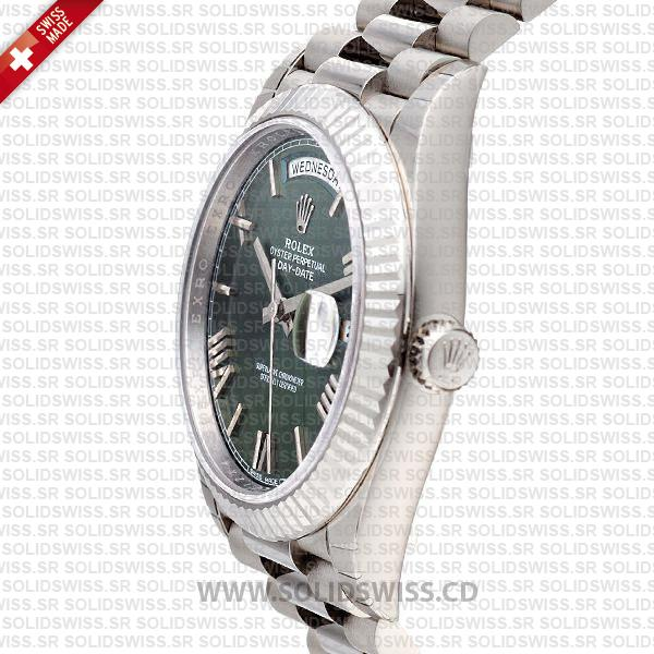 Rolex Day-Date 40 Olive Green Roman Dial