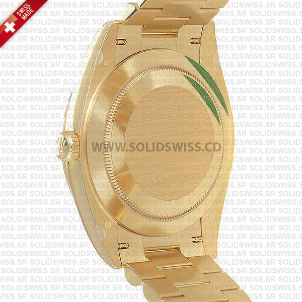 Rolex Day-Date 40 Gold Silver Roman Dial | Solidswiss Replica Watch