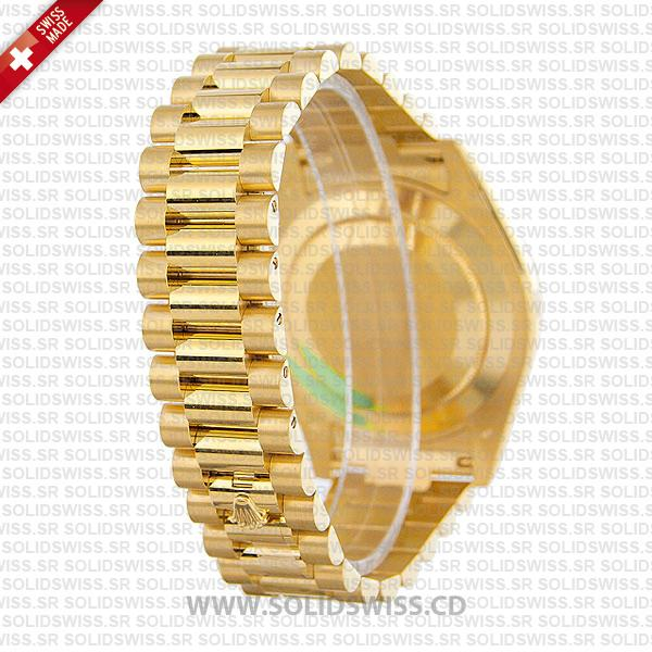 Rolex Day-Date II Yellow Gold White Arabic Dial Replica Watch
